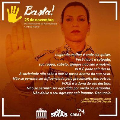 Campanha de combate a violência à mulher de Iaçu é destaque no site da SSP/BA