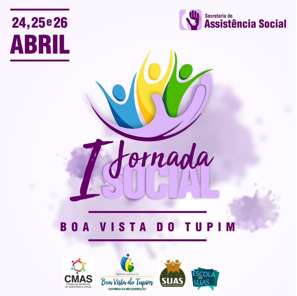 Assistência Social convida para a I Jornada Social de Boa Vista do Tupim