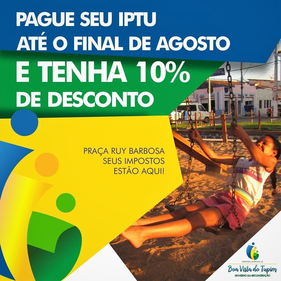 Pague seu IPTU até 31 de agosto e tenha desconto de 10%