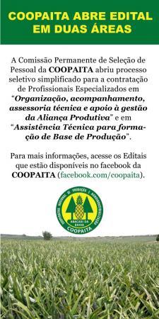 Coopaita abre processo seletivo com duas vagas em Itaberaba.