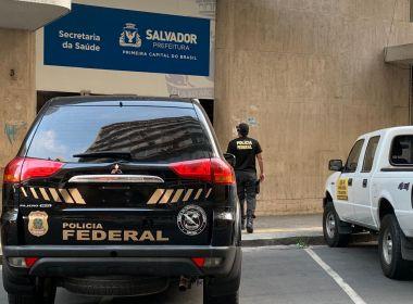PF deflagra operação para desarticular esquema na Secretaria de Saúde de Salvador na manhã desta quarta-feira (20).