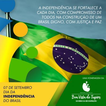 Prefeitura de Boa Vista do Tupim convida a população para o tradicional desfile de 07 de setembro