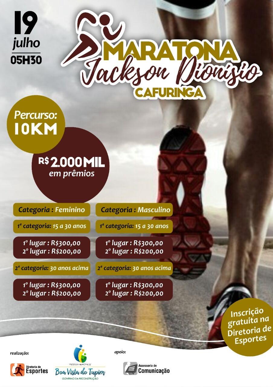 Boa Vista do Tupim realizará maratona com diversas premiações para comemorar o aniversário da cidade