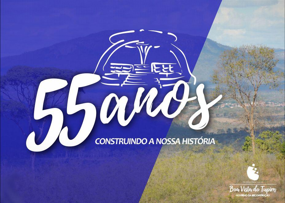 Prefeitura divulga programação para comemoração dos 55 anos de Boa Vista do Tupim