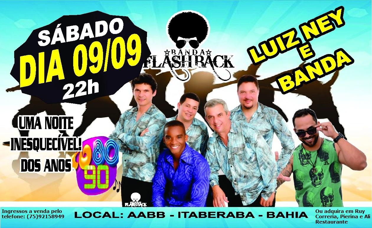 Festa com sucessos dos anos 70, 80 e 90 vai movimentar Itaberaba no dia 09 de setembro