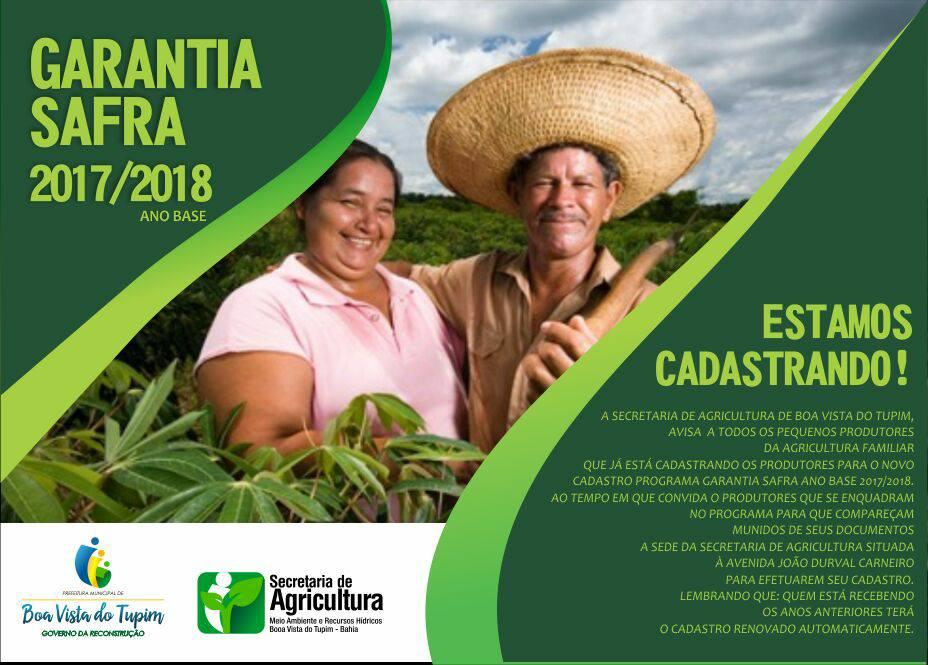 Prefeitura de Boa Vista do Tupim inscreve mais de 1.300 agricultores no seguro Garantia Safra