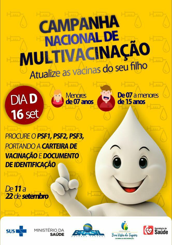 Prefeitura de Boa Vista do Tupim realiza Campanha de Multivacinação para atualização da Caderneta de Vacinação