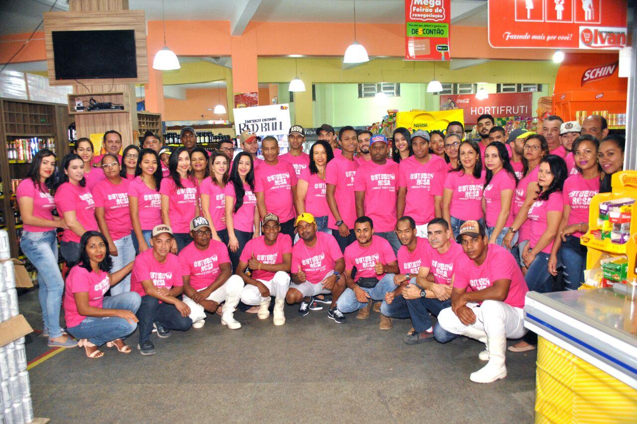 Supermercado do Ivan adere à campanha Outubro Rosa e alerta para a prevenção ao câncer de mama
