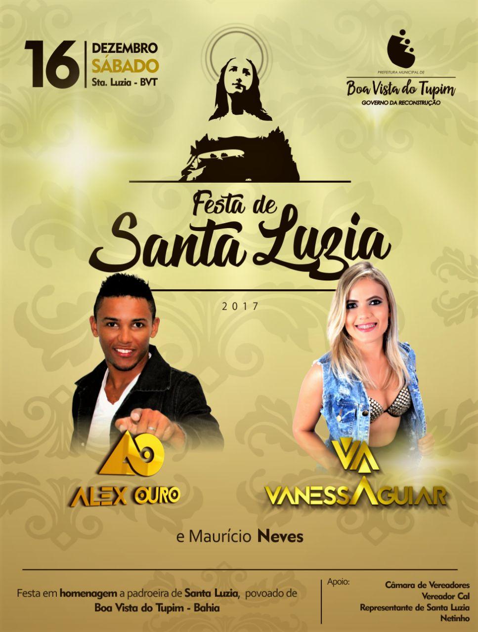 Final de Semana terá a tradicional Festa de Santa Luzia