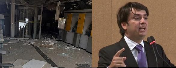Boa Vista do Tupim: Pedro Tavares critica explosão de mais uma agência bancária