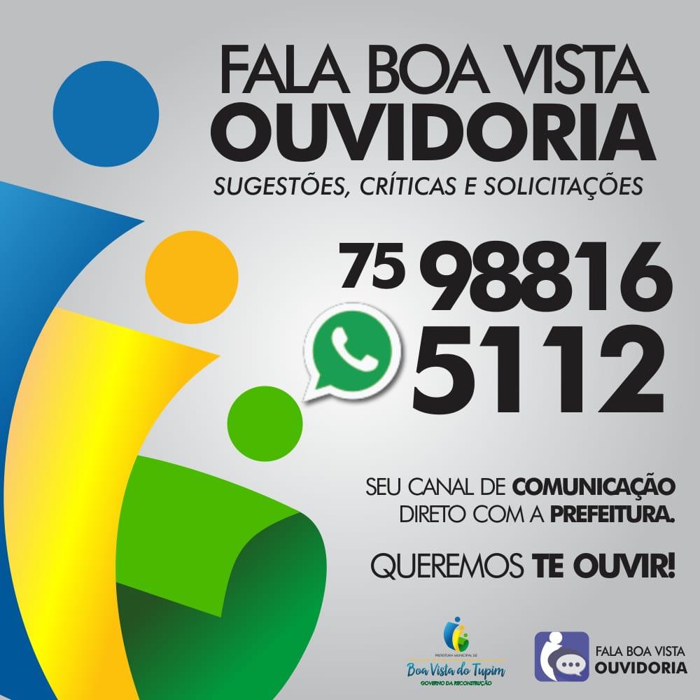 Prefeitura de Boa Vista do Tupim lança ouvidoria disponível via  WhatsApp