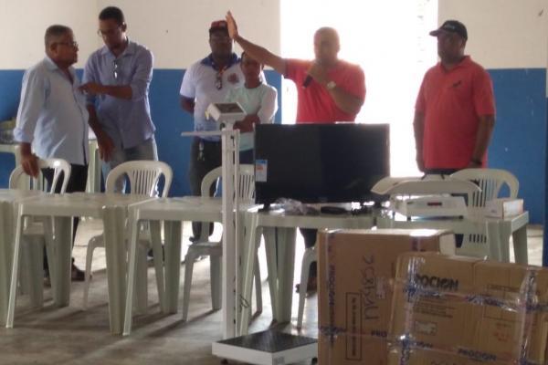 Participaram da entrega dos equipamentos, o ex-vereador Teco Buda e o vereador Sérgio do Zuca