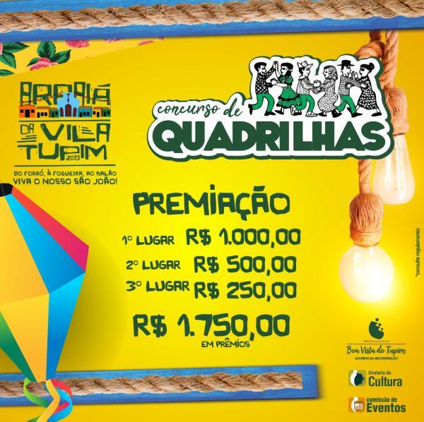 Concurso de Quadrilha vai animar o Arraiá da Vila Tupim 2019