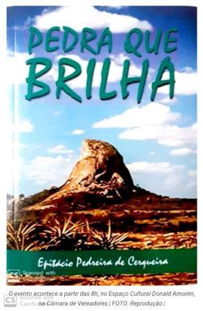 Escritor lança quarta edição do Livro Pedra que Brilha na Câmara Municipal de Itaberaba na próxima sexta 27