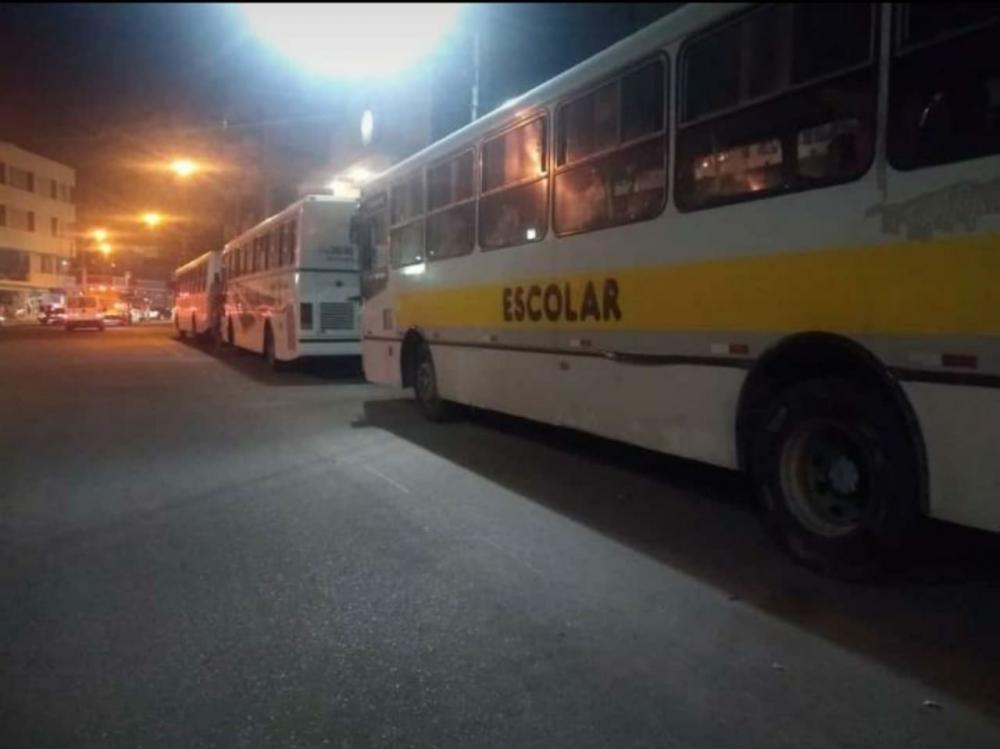 Frota de Ônibus chegando em Itaberaba