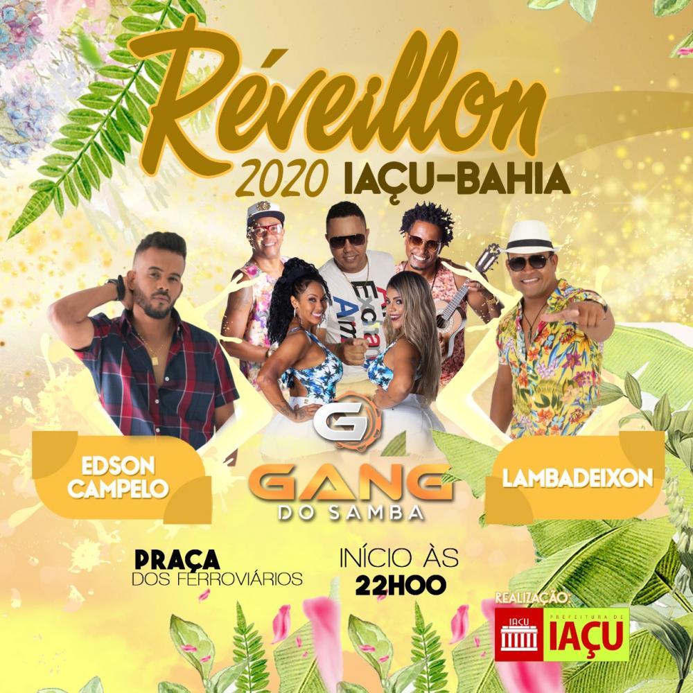 Confira as atrações do tradicional Réveillon 2020 de Iaçu-Bahia