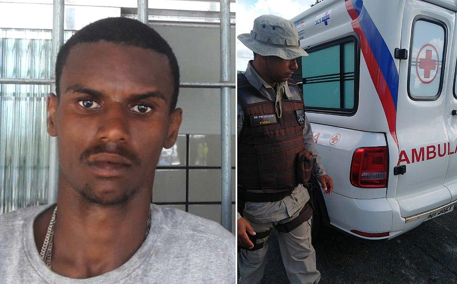 Paciente é morto com 12 tiros durante transferência em ambulância na Bahia.