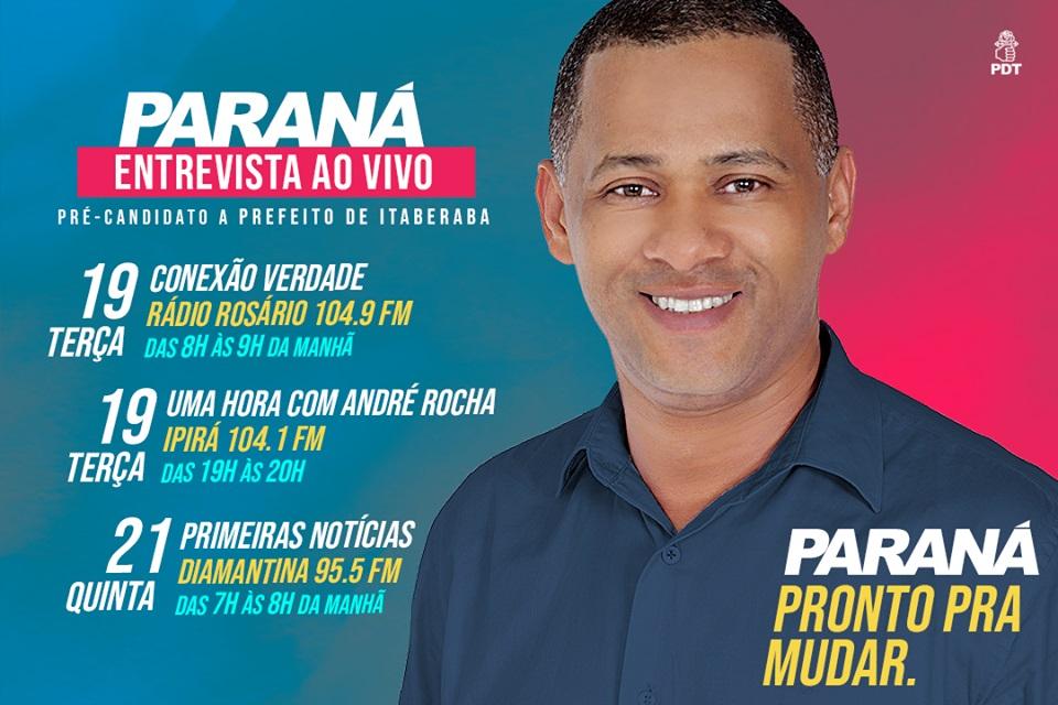 Paraná rompe politicamente com ex-prefeito João Filho e lança sua candidatura a prefeito de Itaberaba